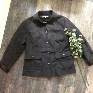 Cabi | Grey Faux Suede Barn Jacket